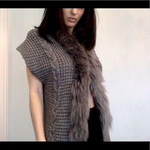 The most chic Knit fur vest